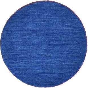 Taul Hand-Knotted Wool Blue Area Rug by Latitude Run