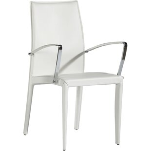 Sagitta Genuine Leather Upholstered Dining Chair (Set of 2) Orren Ellis