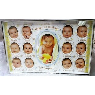 Bate Baby First Birthday Collage Picture Frame