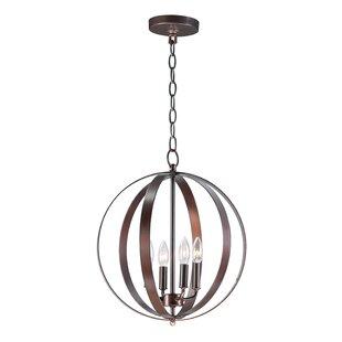 Wrought Studio Mielke 4-Light Globe Pendent