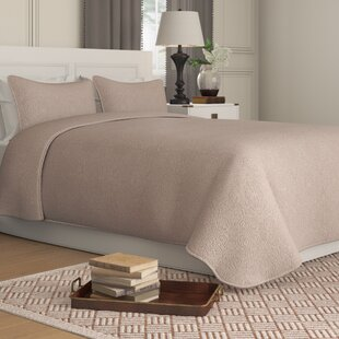Galiana Elegant Embossed Textured Quilted Coverlet Reversible Bedspread Set