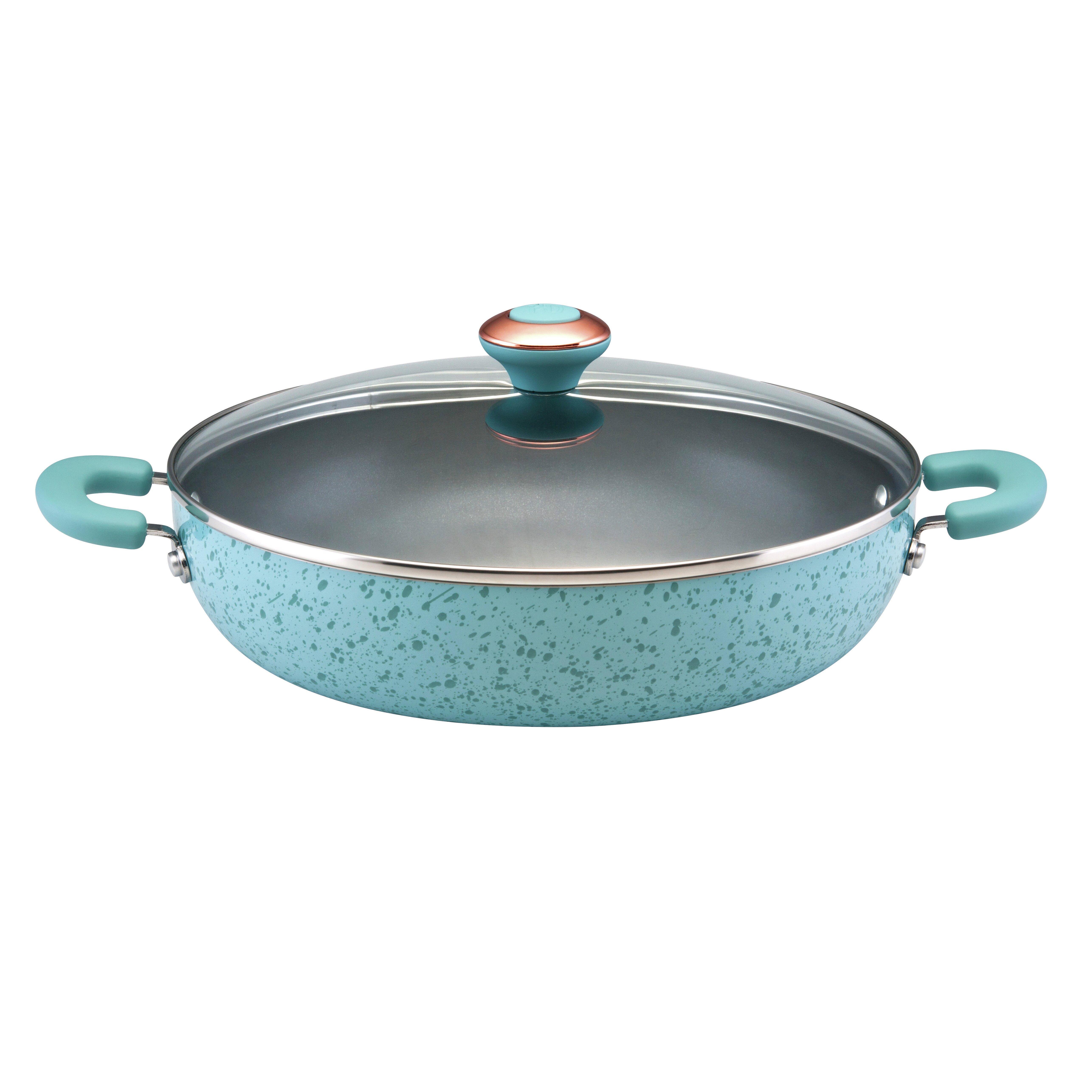 Paula Deen Signature 12 Non Stick Frying Pan With Lid Reviews Wayfair