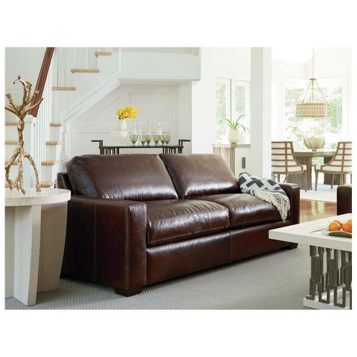 Dansville Two Seat Full Top Grain Leather Sofa