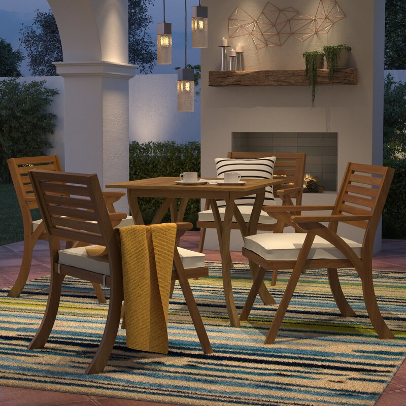 Exceptional Ajax 5 Piece Dining Set With Cushions