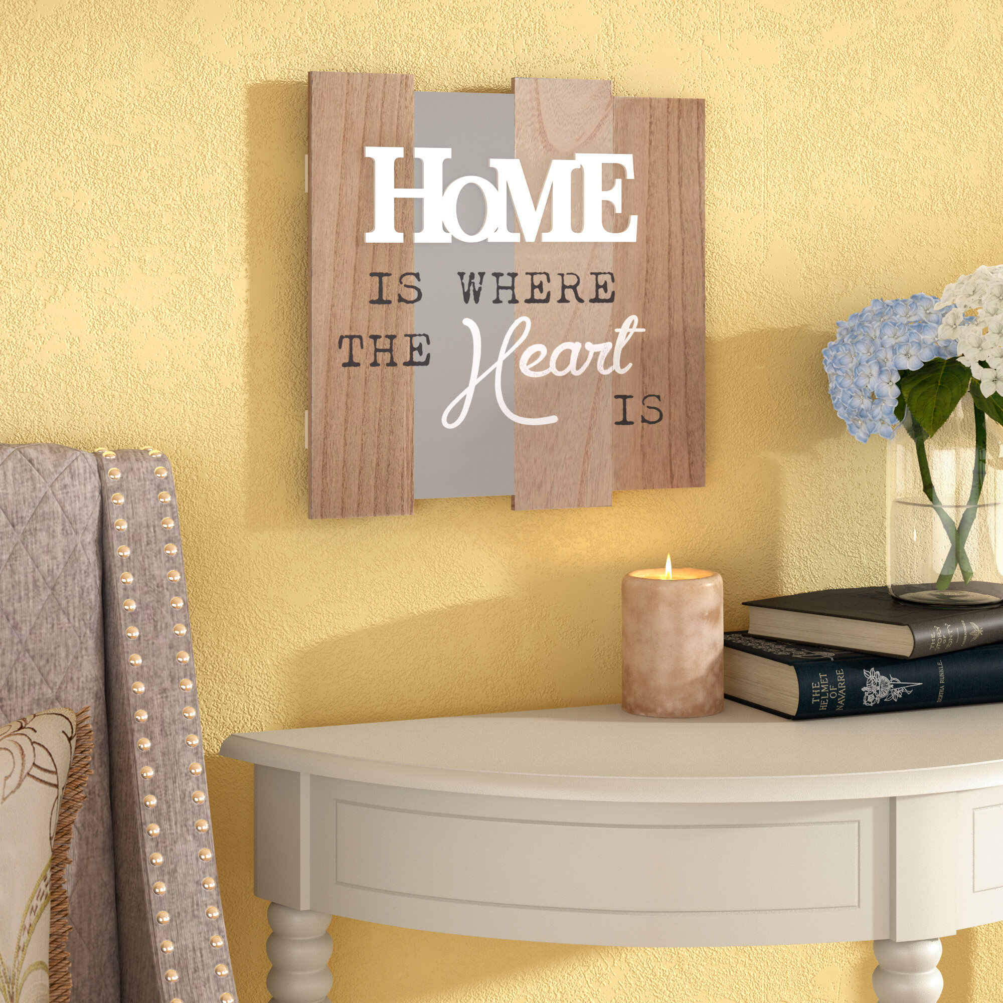 Winston Porter \'Home is Where the Heart Is\' Textual Art on Wood ...