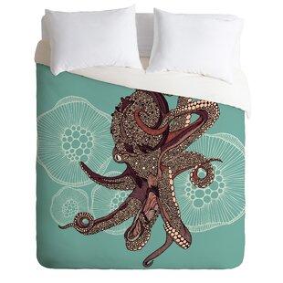 East Urban Home Octopus Bloom Duvet Cover Set