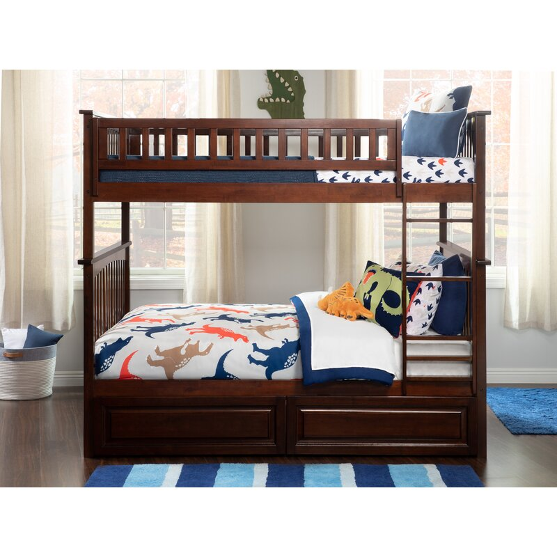 Viv Rae Henry Bunk Bed With Storage Reviews Wayfair