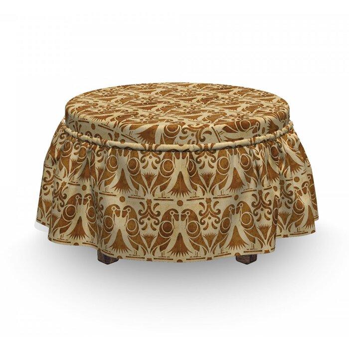 Tremendous Exotic Bird Parrot Ottoman Slipcover Spiritservingveterans Wood Chair Design Ideas Spiritservingveteransorg