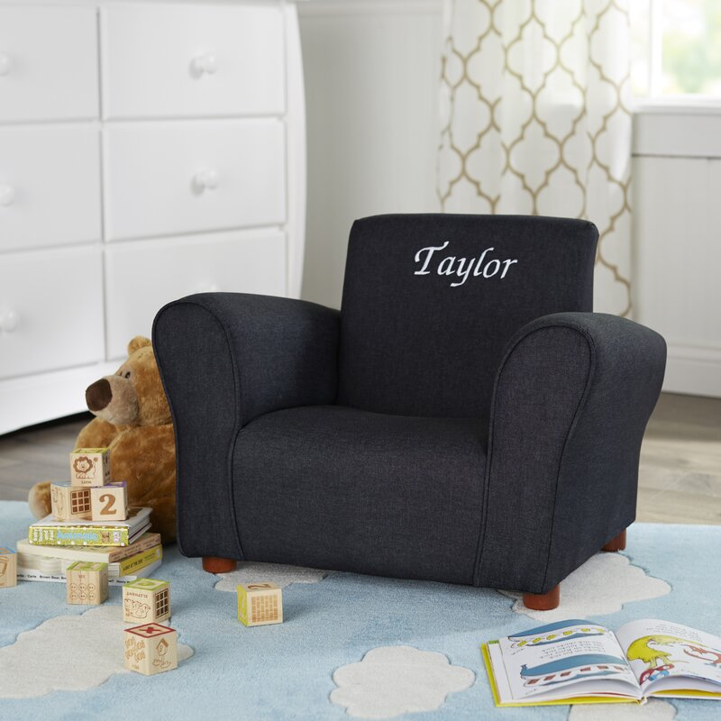 Blue Denim Personalized Kids Club Chair