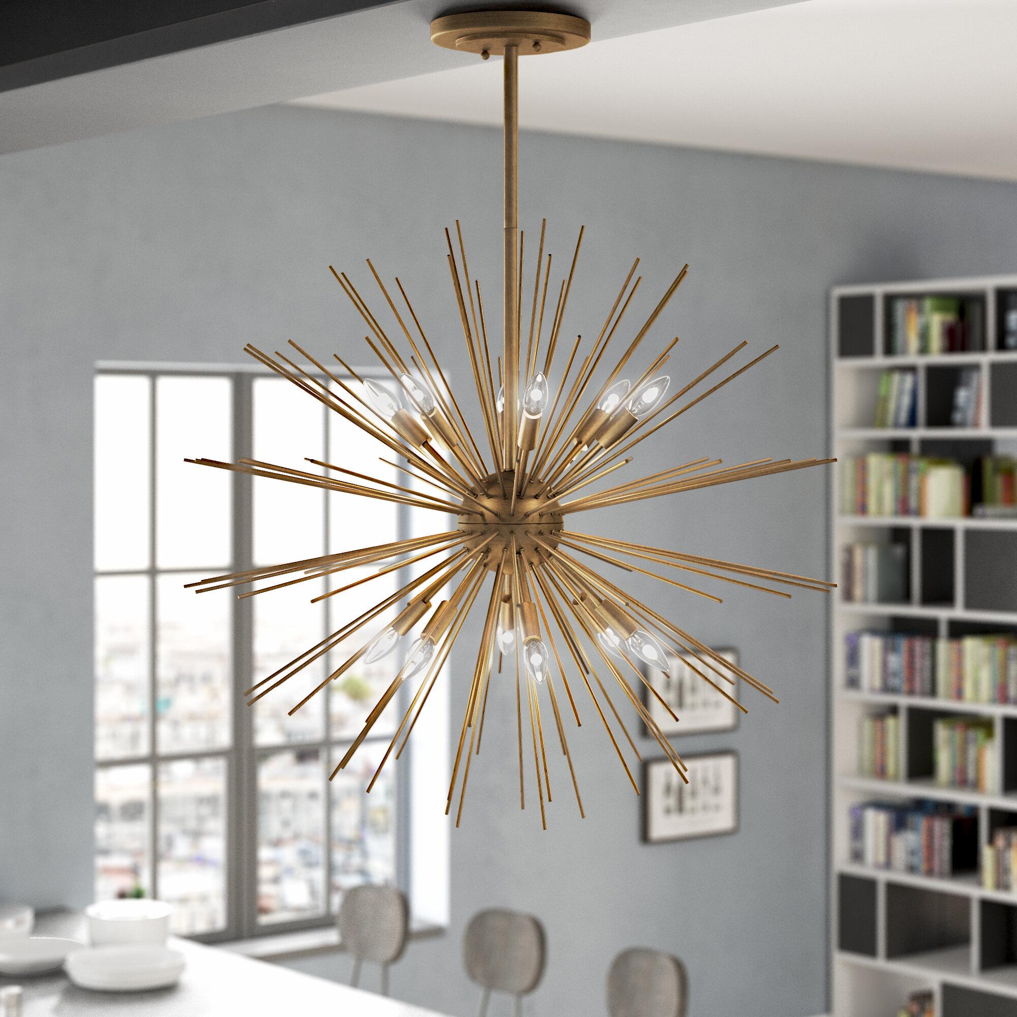 Trent Austin Design Antonie 12 Light Sputnik Chandelier