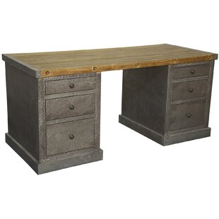 Zinc Solid Wood Writing Desk