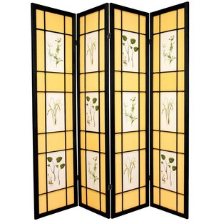 Amy Shoji 4 Panel Room Divider by World Menagerie