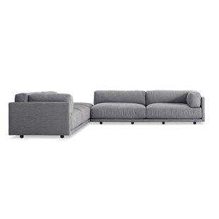 Sunday Backless L Sectional Sofa Blu Dot
