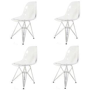 Brayden Studio Essence Side Chair with Metal Wire Legs (Set of 4)