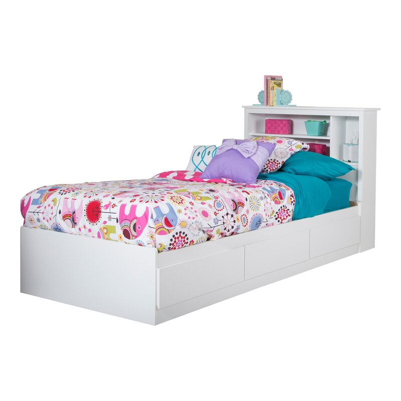 vito twin mateu0027s bed with bookcase headboard