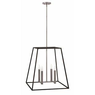 Read Reviews Fulton 4-Light Foyer Pendant By Hinkley Lighting