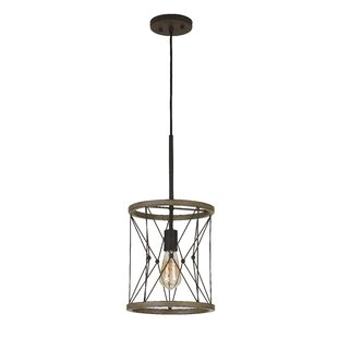 Williston Forge Edmonds Metal 1-Light Drum Pendant