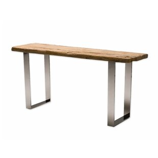 Galghard Reclaimed Pine Wood Console Table