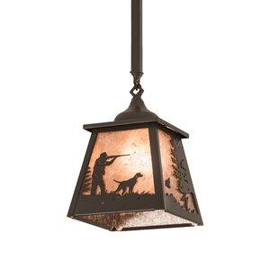 Fairhills Quail Hunter 1-Light Lantern Pendant By Millwood Pines
