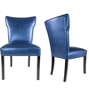 Cresson Vinyl Upholstered Contemporary Side Chair (Set of 2) Everly Quinn