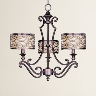 Top Reviews Gidney 3-Light Shaded Chandelier By Three Posts