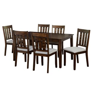 Rhem 7 Piece Solid Wood Dining Set Charlton Home
