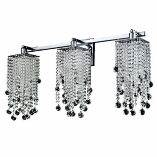 Cohen-Arazi Smooth Crystal Bead Square 2-Light Armed Sconce by Everly Quinn