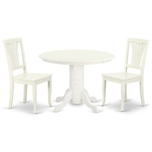 Konopka 3 Piece Solid Wood Dining Set