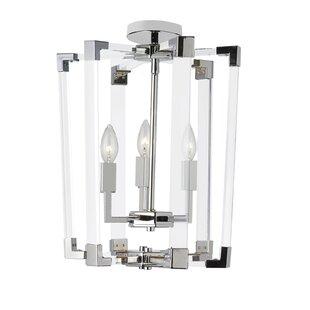 Zimmerman 3-Light LED Semi Flush Mount by Orren Ellis
