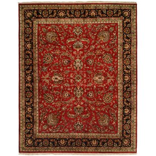 Great choice Balay Hand-Woven Red/Black Area Rug ByMeridian Rugmakers