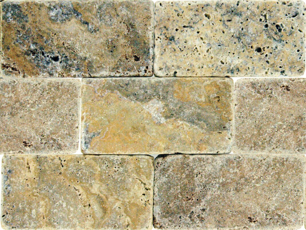 Travertine backsplash tile youll love wayfair tuscany scabas 3 x 6 travertine subway tile dailygadgetfo Images