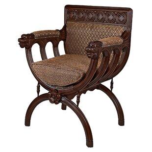 San Lorenzo Renaissance Cross-Frame Armchair by Design Toscano