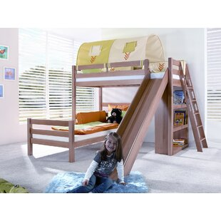 Carina European Single L-Shaped Bunk Bed With Slide By Harriet Bee
