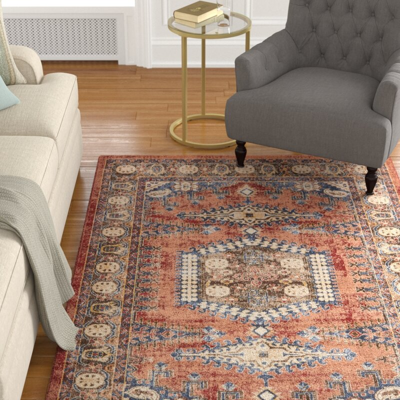 Astoria Grand Nathanson Terracotta Area Rug Amp Reviews