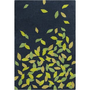 Millwood Hand Tufted Wool Navy Blue Green Area Rug