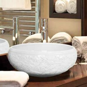 Compare prices Hand Carved Ceramic Circular Vessel Bathroom Sink By Linkasink