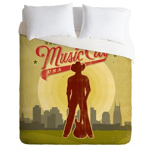 East Urban Home Music City Duvet Cover Set