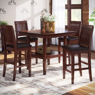 Loon Peak Chippewa 5 Piece Counter Height Dining Set