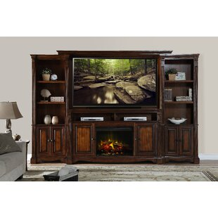 Entertainment Center for TVs up to 85 with Electric Fireplace Included