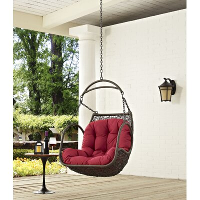 Vernice Swing Chair Color Red Accuweather Shop