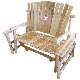 Alaniz Star Glider Bench by Millwood Pines