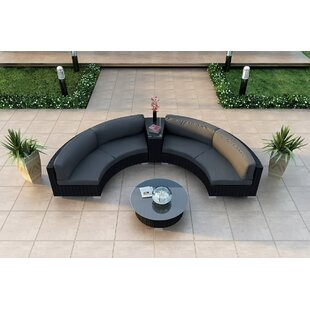 Azariah 4 Piece Sunbrella Sectional Set with Cushions