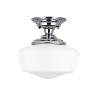 Panacea 1-Light Semi Flush Mount by Beachcrest Home