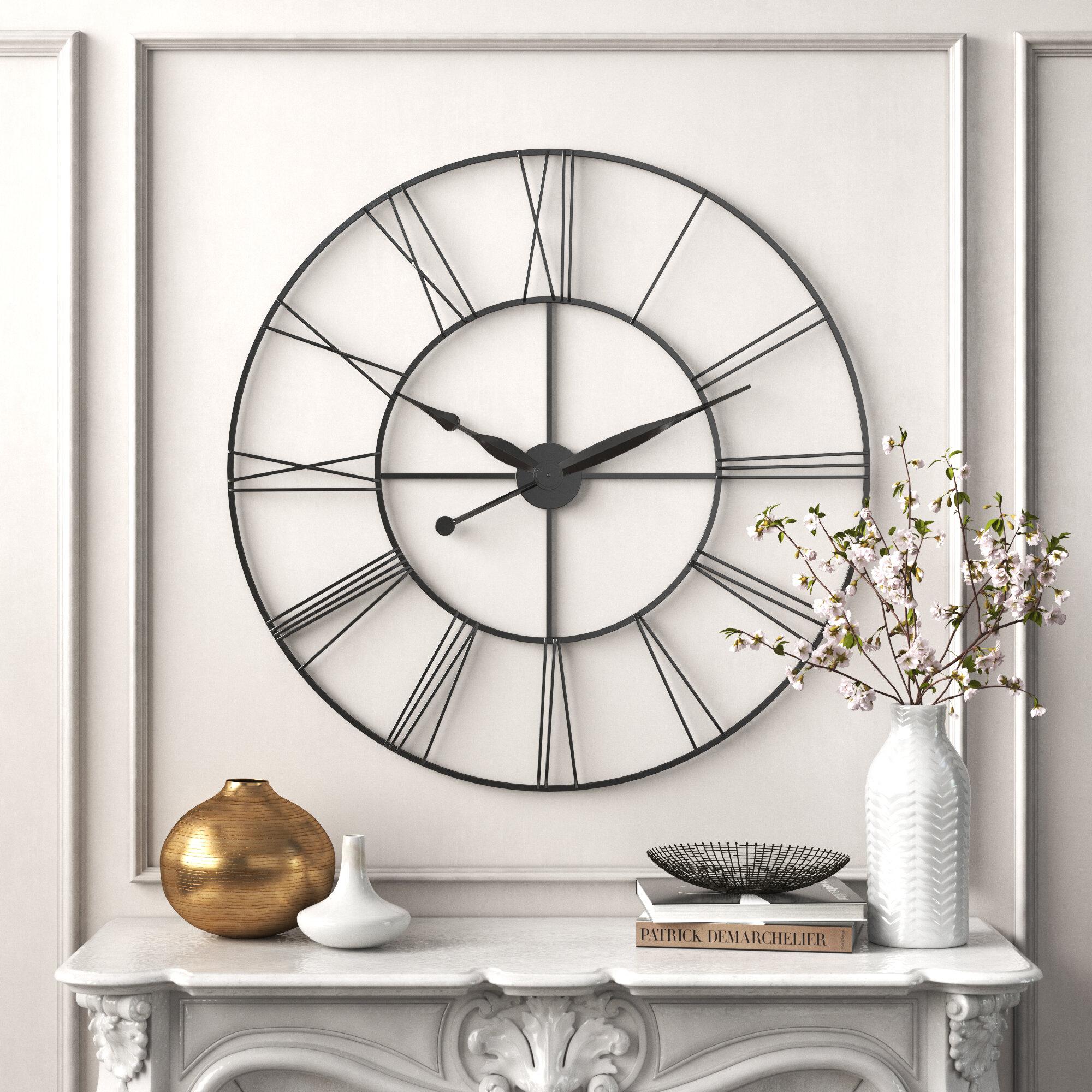 Kelly Clarkson Home Oversized James 45 Wall Clock Reviews Wayfair