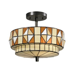 Alex 2-Light Semi Flush Mount by Alcott Hill