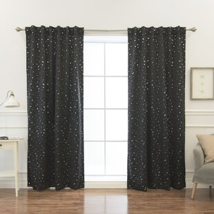 Lesly Solid Blackout Thermal Curtain Panels (Set of 2)
