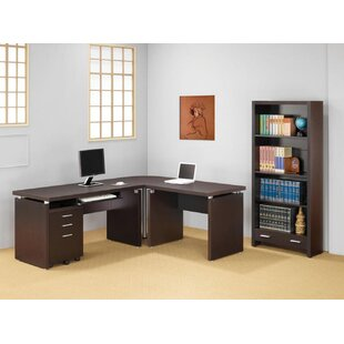Ollie 5 Piece L-shaped Desk Office Suite