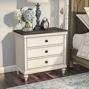 Lark Manor Bruyere 3 Drawer Nightstand