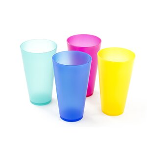 Amato Reusable Plastic Cups (Set of 4)
