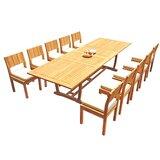 Fillmore 11 Piece Teak Dining Set